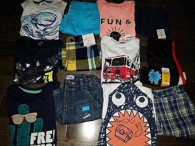 NWT Size 2T Boys Summer Lot of Clothes & Outfits Gymboree shark cactus