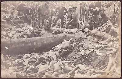 1906 - Battle Of Bud Dajo Phillipines - Bodies In Trench - Velox - Not Used