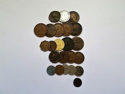 A SET Of 23 Coins From England And World