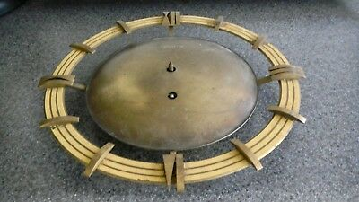 30's-50's Art Deco space age antique vintage  brass wall clock -