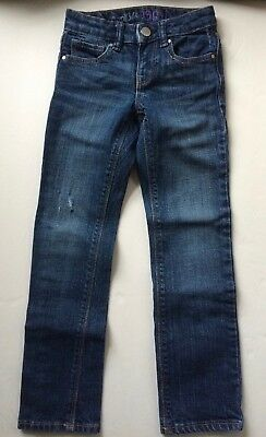 Gap Kids 1969 Jeans Girl Blue Denim 6 Slim Adjustable Distressed Slight Use Sk44