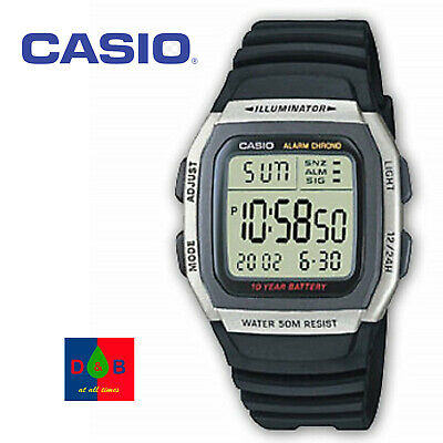**REDUCED** Casio Men's W-96H-1BV Classic Sport Digital Black Resin Strap Watch