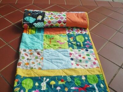 Handmade Baby quilt,girl or boy quilt,patchwork crib quilt,toddler Cute Critters