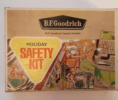 "Early Canadian(Kitchener, Ont) ""b.f Goodrich Holiday Safety Kit"" Cardboard-Empty"