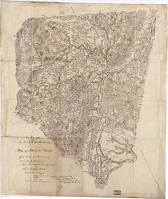 12x18 inch Reprint of American Cities Towns States Map Albermarle County