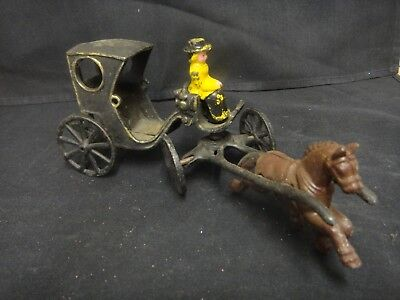 Antique Cast Iron Horse And Buggy Toy
