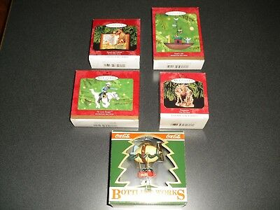 Hallmark and Coca-Cola Christmas Ornaments Lot, North Pole Express, Noah, Lone R