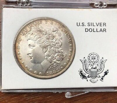 1883 O Morgan Silver Dollar  Ms Grade Coin  W/beautiful Toning