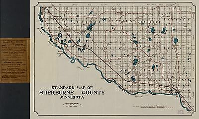 12x18 inch Reprint of America Cities Towns States Map Sherburne County Minnesota