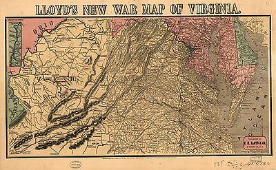 12x18 inch Reprint of American Military Map Virginia