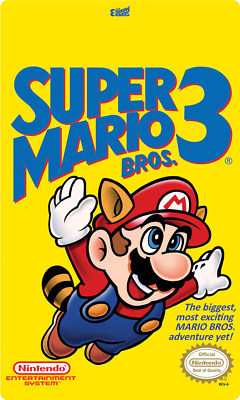 Super Mario Bros 3 NES Cartridge Replacement Label Sticker EASY PEEL AND STICK n