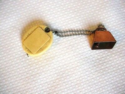 Vintage keychain Phillips 66 Tape Measure Gas Oil measuring tape w/cowbell ring