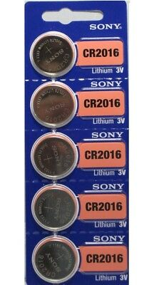 **FRESH NEW** 5 x SONY CR2016 Lithium Battery 3V Exp 2024 Pack 5 pcs Coin Cell