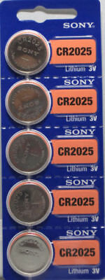 **FRESH NEW** 5 x SONY CR2025 Lithium Battery 3V Exp 2025 Pack 5 pcs Coin Cell