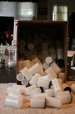 LOT OF 10 Vintage used Clear Plastic Film Cans -  Free Shipping