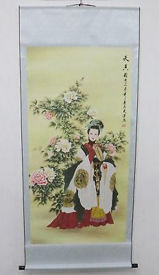 Old Collection Scroll Chinese Painting /Beauty Painting ZH1046