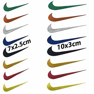 Embroidered Nike multiple colour sports logo iron on patch Sew on patch