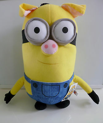 """New Rare 16"""" Despicable Me Minion Pig Tim 3D Two Eyed Plush Nwt - Us Seller"""