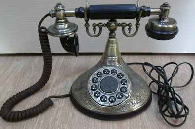Paramount Collection Classic Series Victorian Style Touch Tone Phone Brass Black
