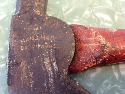 """Old vintage """"HAND MADE DROP FORGED"""" Hatchet roofing hammer axe"""