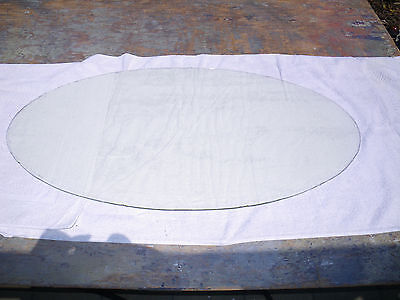 """Antique LARGE OVAL Beveled Plate Glass Window-1916 Entrance Door-39"""" TALL!-NICE!"""
