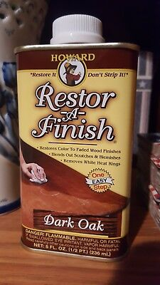 Howard Restore-A-Finish 8 0z Dark Oak FREE SHIPPING!