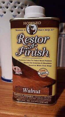 Howard Restore-A-Finish 8 0z Walnut FREE SHIPPING!