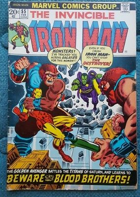 Iron Man #55 (Feb 1973, Marvel); purchased new in 1973