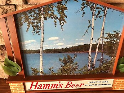 Beautiful 50's Hamm's Beer Sign, Perfect!