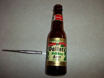 Vintage  WALTER LITTLE WALLY HOLIDAY BEER BOTTLE EauClaire Wisconsin Wi. Bar