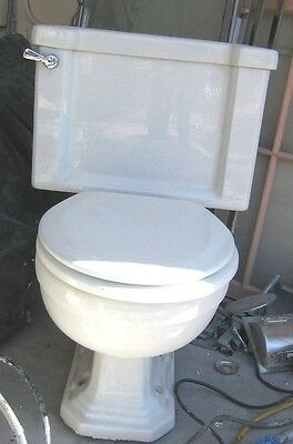 1930's White (American) Standard Compact Toilet Works Mid Century Modern
