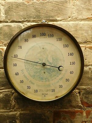 Vintage~Teutonia Fire & Insurance Co of Dayton Ohio~Advertising Thermometer~F/S