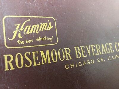 """50's """"The Beer Refreshing"""" Hamm's Leather Cash and Coin Bank Purse,Chicago"""