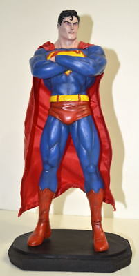 Custom SUPERMAN Statue w Cloth Cape Professionally Built & Painted Low Prod Run