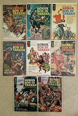 KORAK SON OF TARZAN  LOT (8) Issues #35-38,41-44  Gold Key Comics 1964 NICE!!