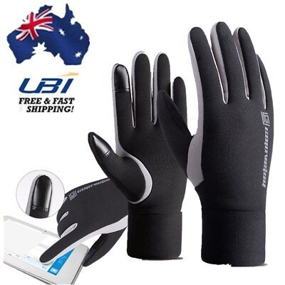 A Pair Mens Touch Screen Winter Warm Fleece Lined Skiing Sports Thermal Gloves