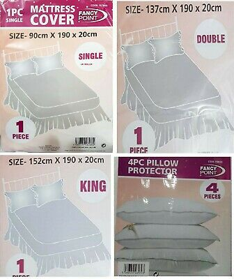 Bed Mattress Waterproof Cover Protectors Single - Double - King Size (plastic)