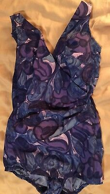 Vintage '50s Pin Up Swimsuit Perfection Fit by Roxanne 40 B~Shades of Blue~EXC!