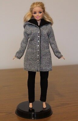 Clothes for Curvy Barbie Doll. Hooded Coat and Leggings for Dolls..