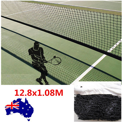 Tennis Net Court Full Size 41.9x3.5ft Fixing Cable included Polyethylene Black