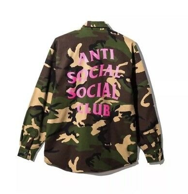 Anti Social Social Club ASSC Hey Flannel Cameo Flannel shirt 100%Authentic Large