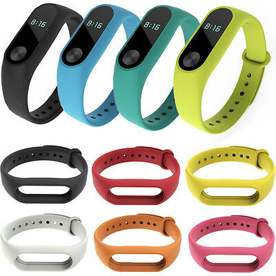Replacement Wrist Bands for Xiaomi Miband 2 Silicone Strap MI Band Bracelet