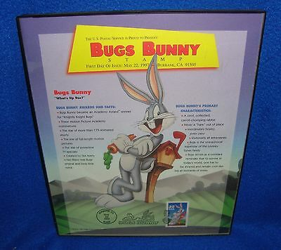 Looney Tunes Bugs Bunny Framed First Day Cover Stamp
