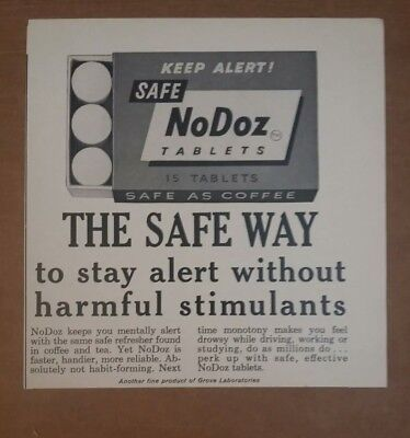 1963 NoDoz Tablets Ad Safe Way