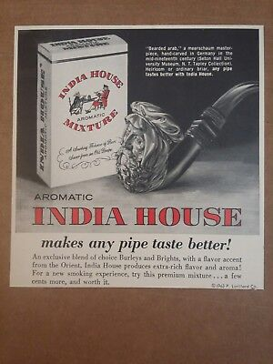 1963 India House Aromatic Mixture Pipe Tobacco Ad
