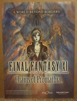 2004 Final Fantasy XI Online Chains of Promathia Video Game promo ad
