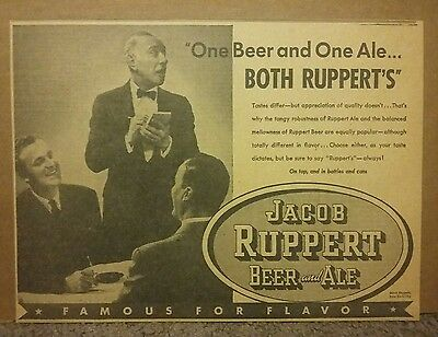 1938 Jacob Ruppert Beer & Ale Ad
