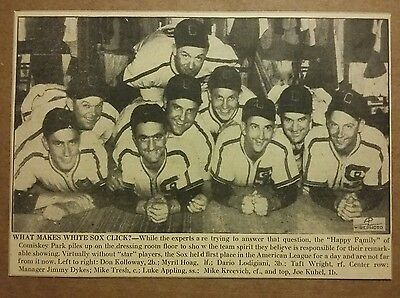 1941 What Makes White Sox Click Photo Article Baseball