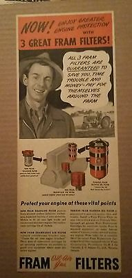 1948 Fram Oil, Air, and Gas Filter Ad