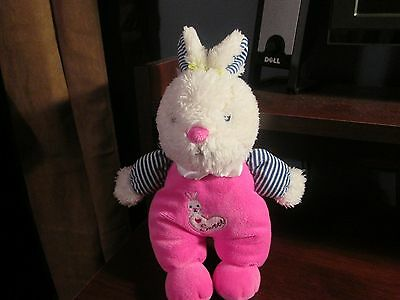 Baby Starters plush bunny lovey sweet with rattle VHTF